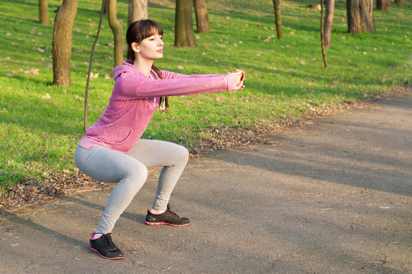 Woman Squat Exercise